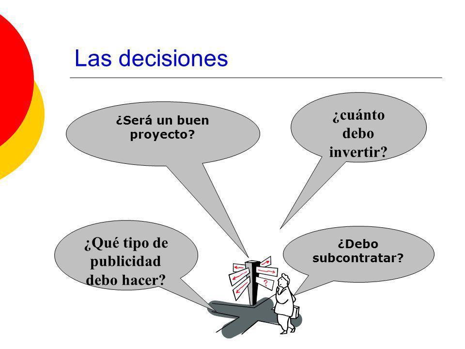 Las decisiones Prácticamente en todo instante, y durante toda nuestra vida, estamos evaluando opciones y tomando decisiones.