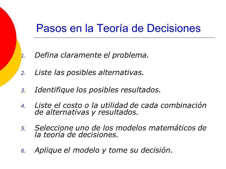El proceso de decisión Un proceso de decisión es el que requiere un solo conjunto de decisiones o una secuencia de decisiones para su conclusión.