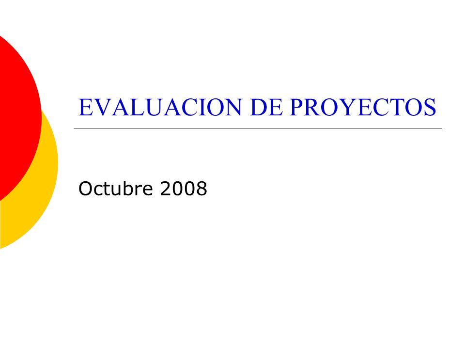EVALUACION DE PROYECTOS Octubre 2008