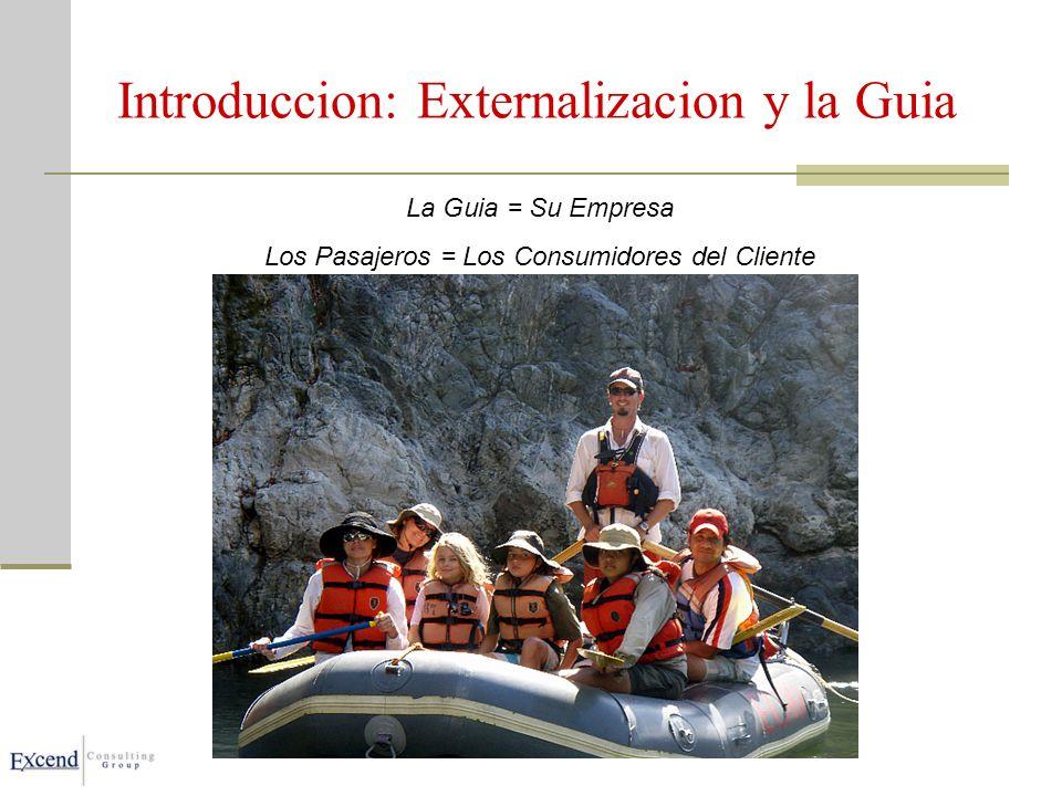 Introduccion: Externalizacion y la Guia La Guia = Su Empresa Los Pasajeros = Los Consumidores del Cliente