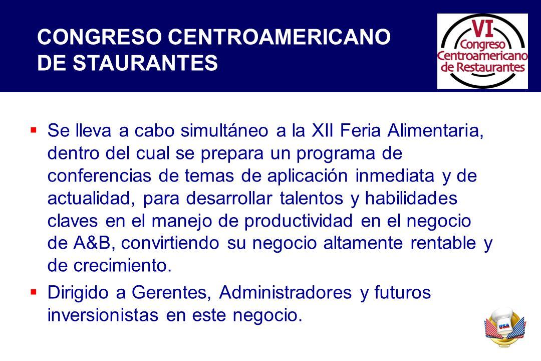 Se lleva a cabo simultáneo a la XII Feria Alimentaria, dentro del cual se prepara un programa de conferencias de temas de aplicación inmediata y de ac