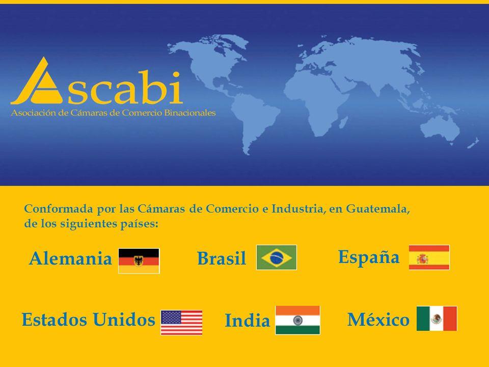 Conformada por las Cámaras de Comercio e Industria, en Guatemala, de los siguientes países: AlemaniaBrasil España Estados UnidosMéxico India