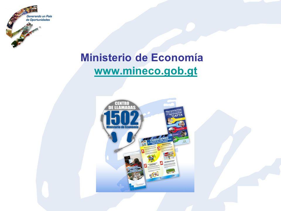 Ministerio de Economía www.mineco.gob.gt www.mineco.gob.gt