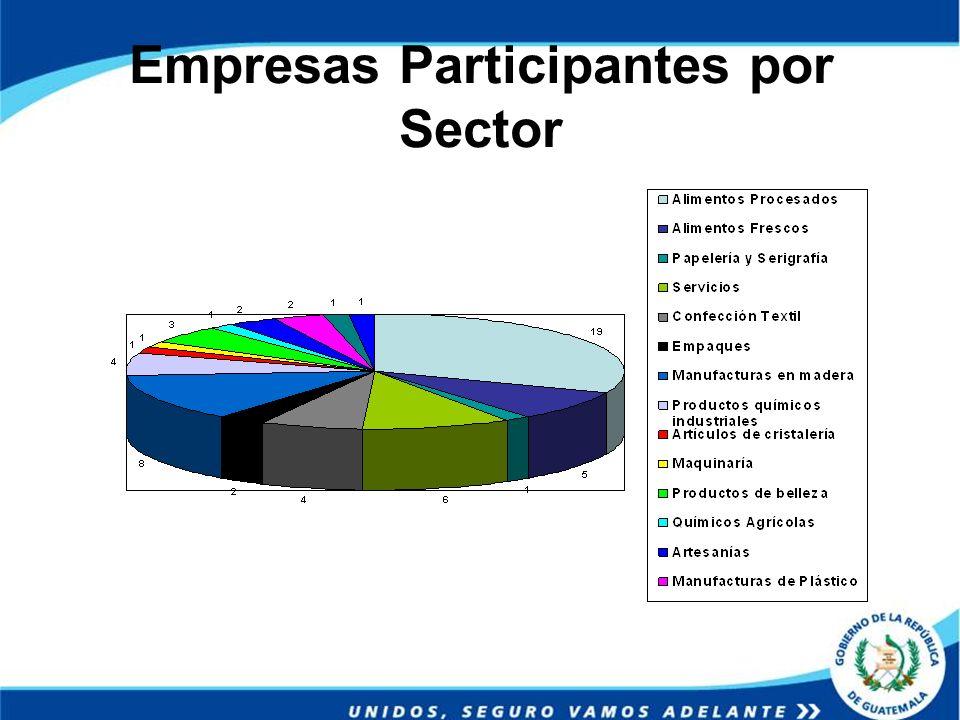 Empresas Participantes por Sector