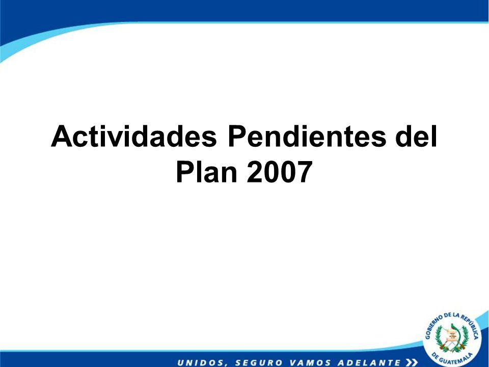 Actividades Pendientes del Plan 2007