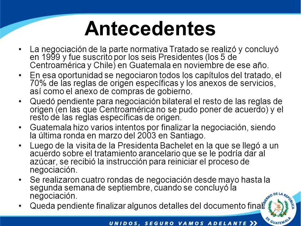 Antecedentes La negociación de la parte normativa Tratado se realizó y concluyó en 1999 y fue suscrito por los seis Presidentes (los 5 de Centroaméric