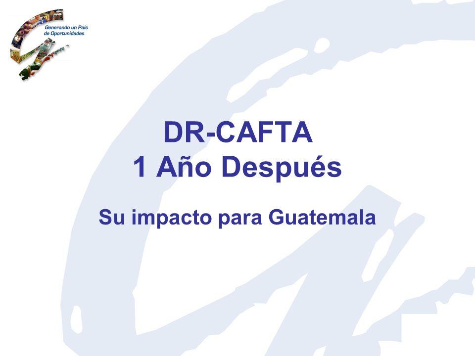 DR-CAFTA 1 Año Después Su impacto para Guatemala