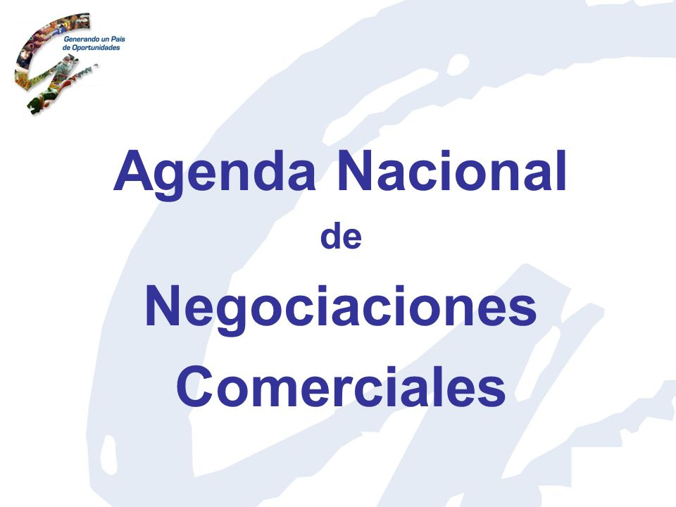 Agenda Nacional de Negociaciones Comerciales