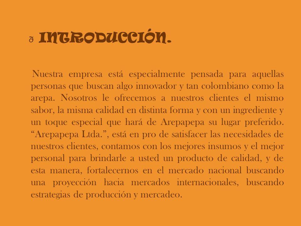 Nuestra empresa está especialmente pensada para aquellas personas que buscan algo innovador y tan colombiano como la arepa. Nosotros le ofrecemos a nu
