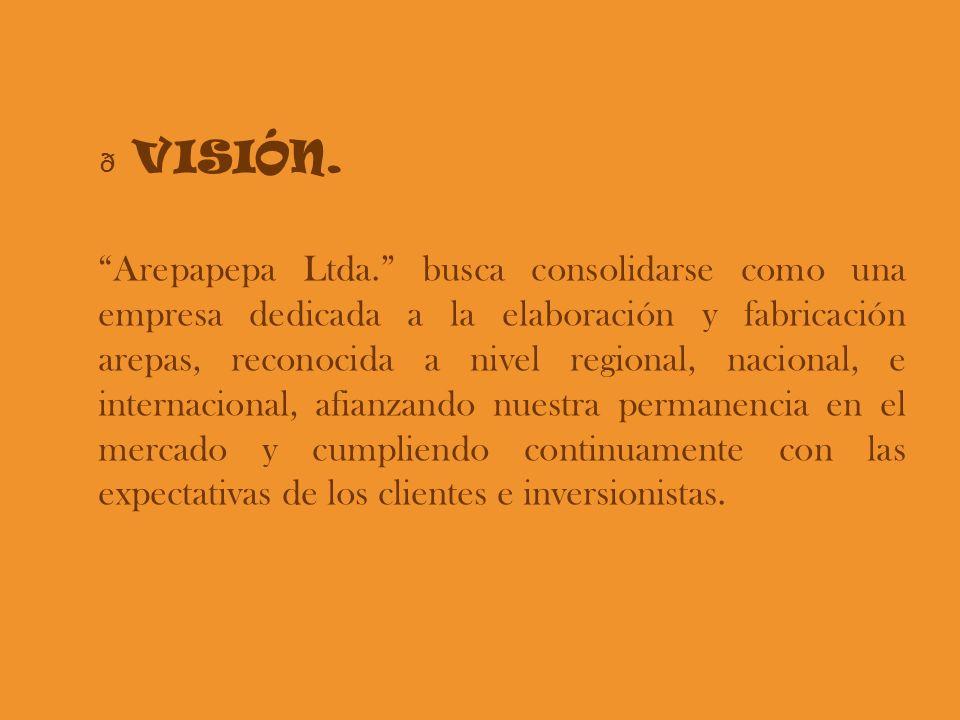 Arepapepa Ltda. busca consolidarse como una empresa dedicada a la elaboración y fabricación arepas, reconocida a nivel regional, nacional, e internaci