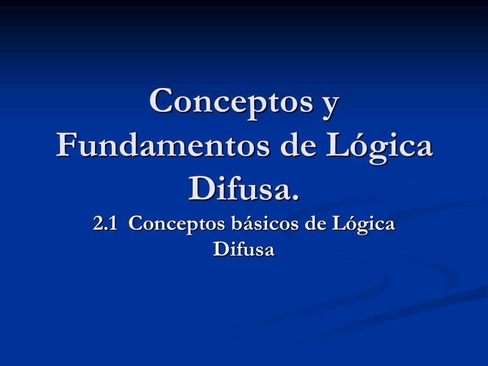 Conceptos y Fundamentos de Lógica Difusa. 2.1 Conceptos básicos de Lógica Difusa