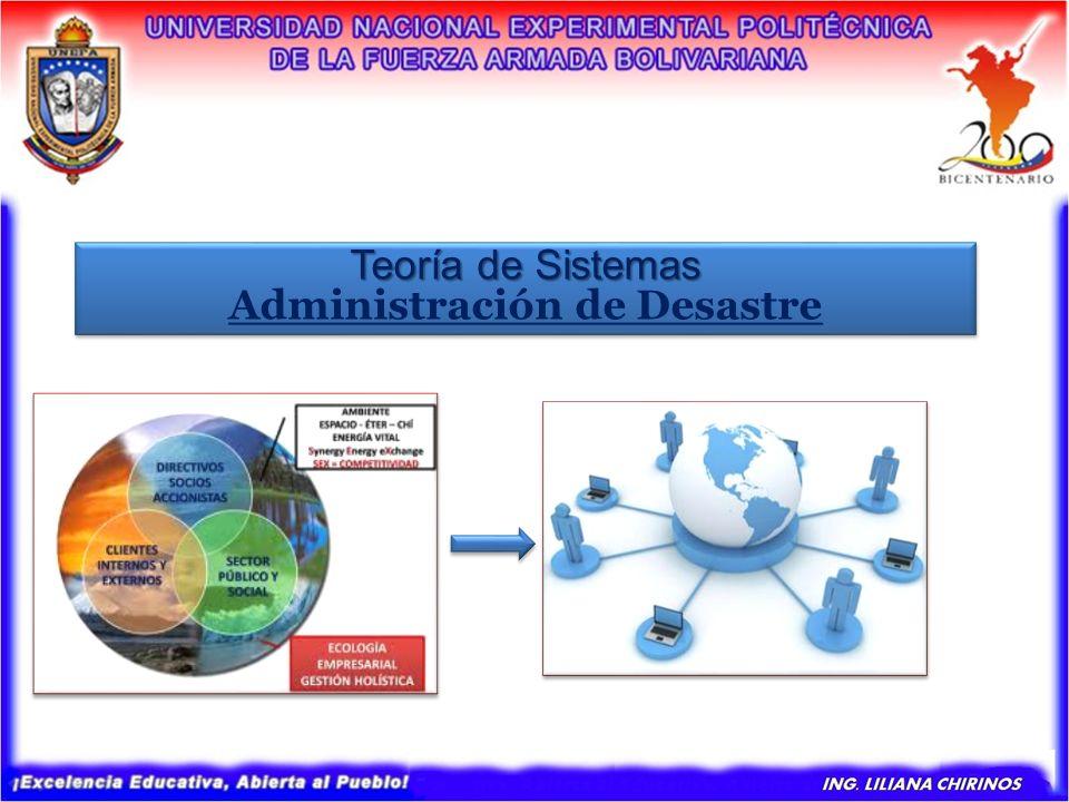 Teoría de Sistemas Administración de Desastre Teoría de Sistemas Administración de Desastre