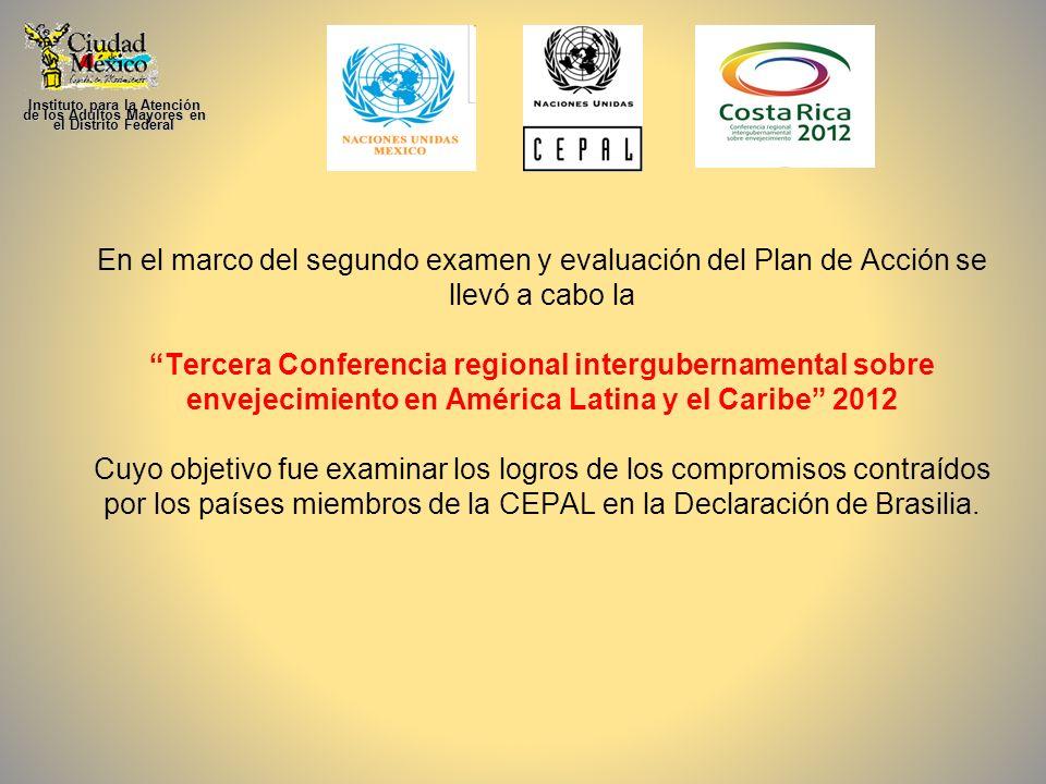 En el marco del segundo examen y evaluación del Plan de Acción se llevó a cabo la Tercera Conferencia regional intergubernamental sobre envejecimiento