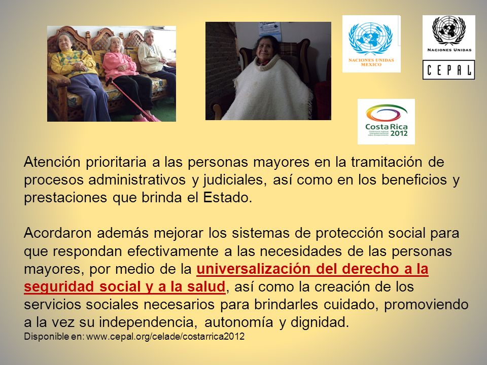 Atención prioritaria a las personas mayores en la tramitación de procesos administrativos y judiciales, así como en los beneficios y prestaciones que