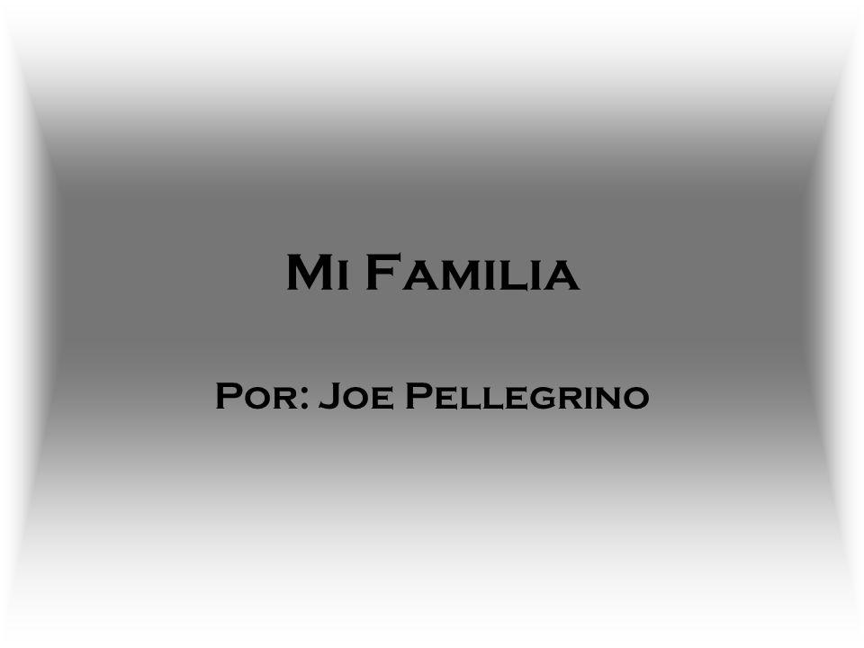 Mi Familia Por: Joe Pellegrino