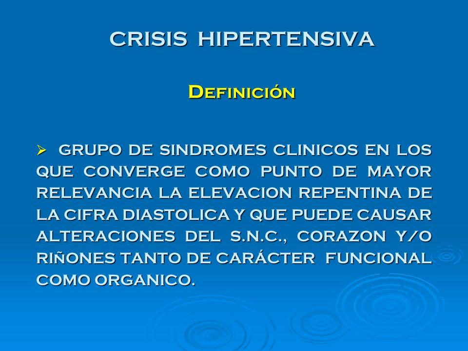 EMERGENCIA HIPERTENSIVA TRATAMIENTO - NITROPRUSIATO DE SODIO - DIAZOXIDO - NITROGLICERINA - LABETALOL - HIDRALACINA - FENTOLAMINA / FENOXIBENZAMINA - CAMSILATO DE TRIMETAFAN