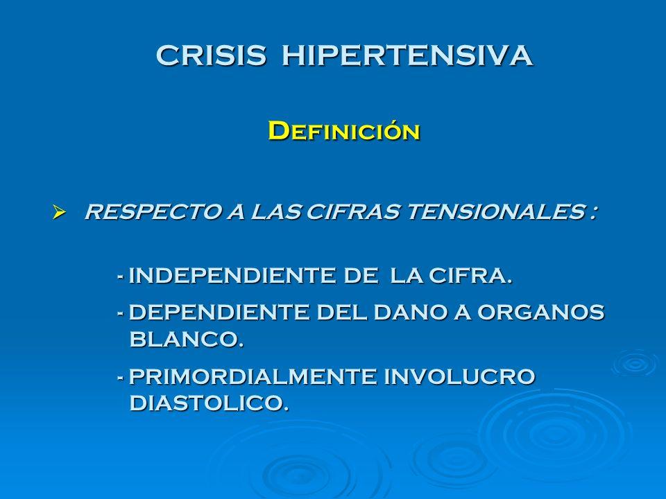 URGENCIA HIPERTENSIVA CARACTERISTICAS CLINICAS STANDARD DE ORO : STANDARD DE ORO : LA T.A.