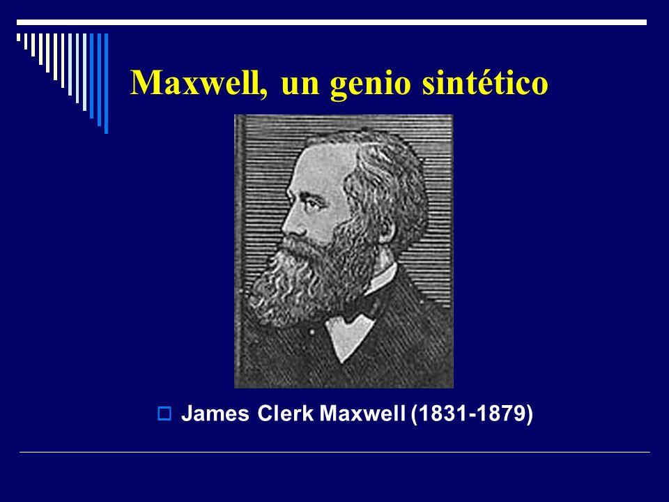 Maxwell, un genio sintético James Clerk Maxwell (1831-1879)