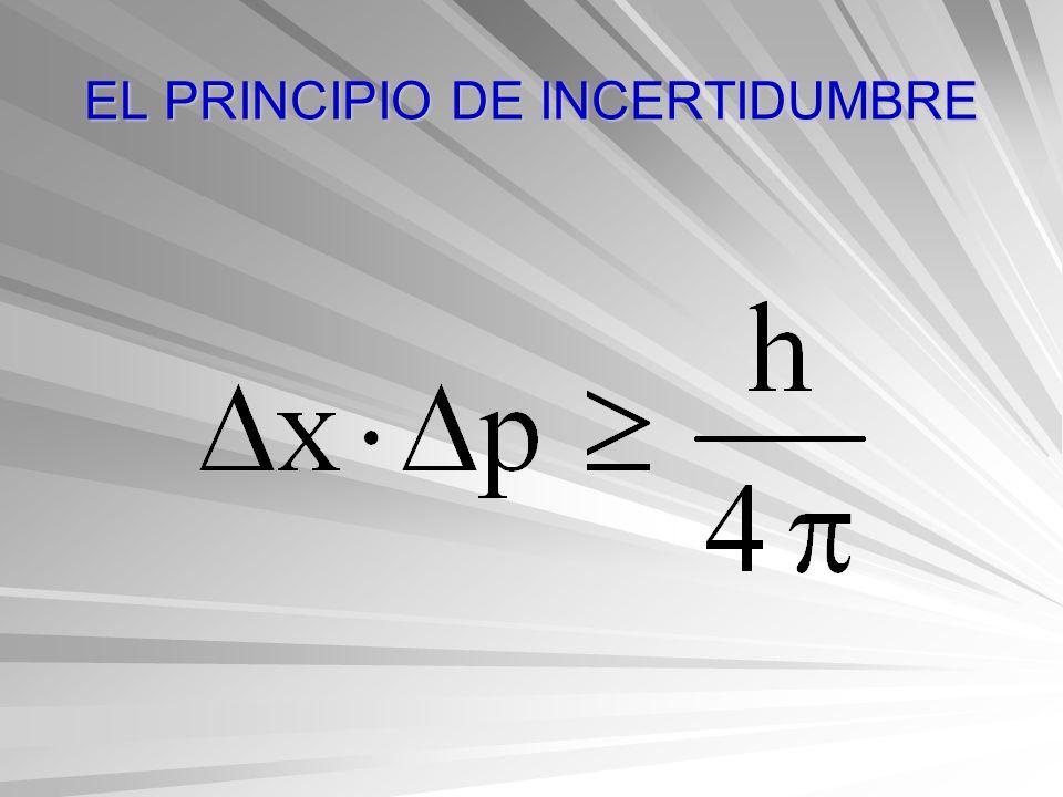 EL PRINCIPIO DE INCERTIDUMBRE
