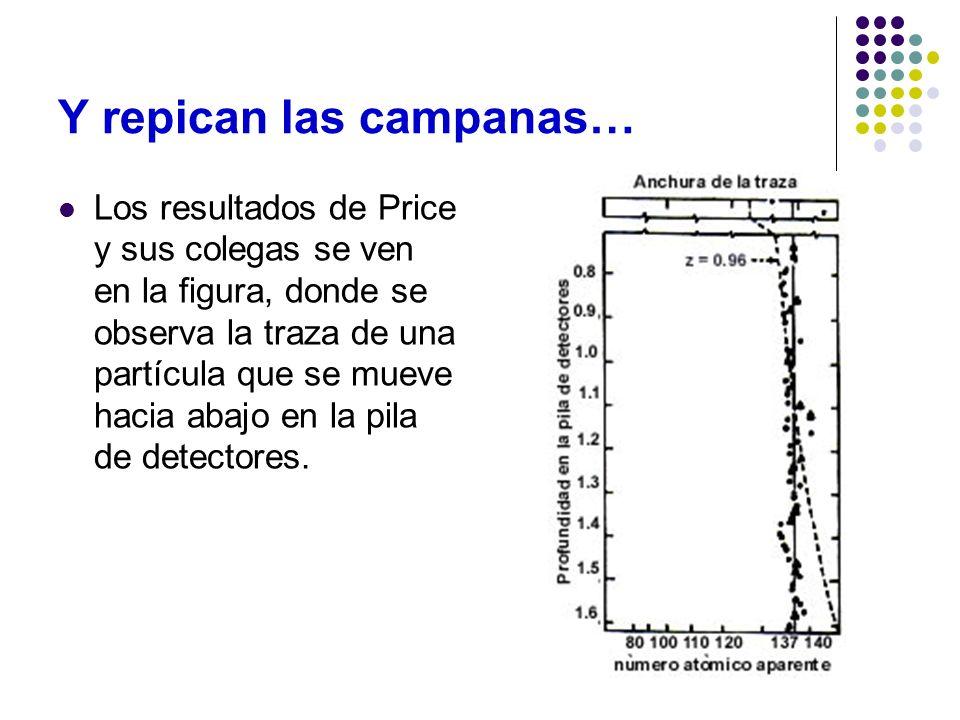 Y repican las campanas… Los resultados de Price y sus colegas se ven en la figura, donde se observa la traza de una partícula que se mueve hacia abajo