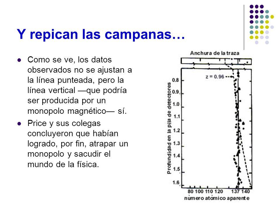Y repican las campanas… Como se ve, los datos observados no se ajustan a la línea punteada, pero la línea vertical que podría ser producida por un mon