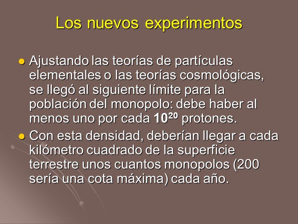 Los nuevos experimentos Ajustando las teorías de partículas elementales o las teorías cosmológicas, se llegó al siguiente límite para la población del