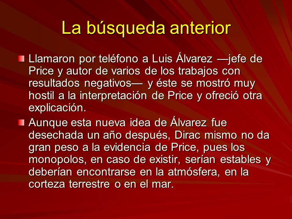 La búsqueda anterior Llamaron por teléfono a Luis Álvarez jefe de Price y autor de varios de los trabajos con resultados negativos y éste se mostró mu