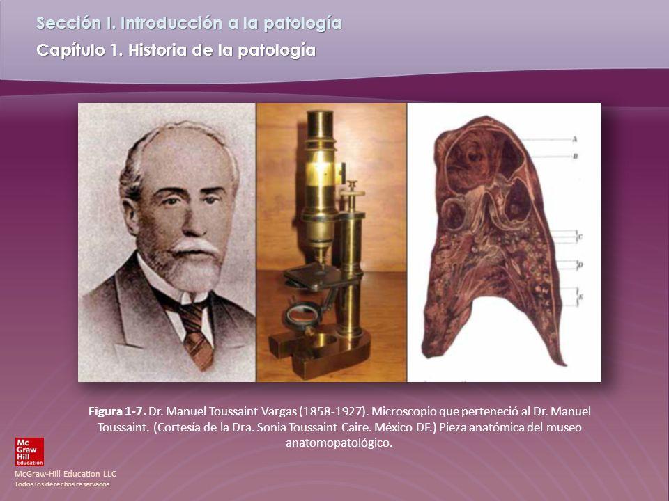 McGraw-Hill Education LLC Todos los derechos reservados. Capítulo 1. Historia de la patología Sección I. Introducción a la patología Figura 1-7. Dr. M
