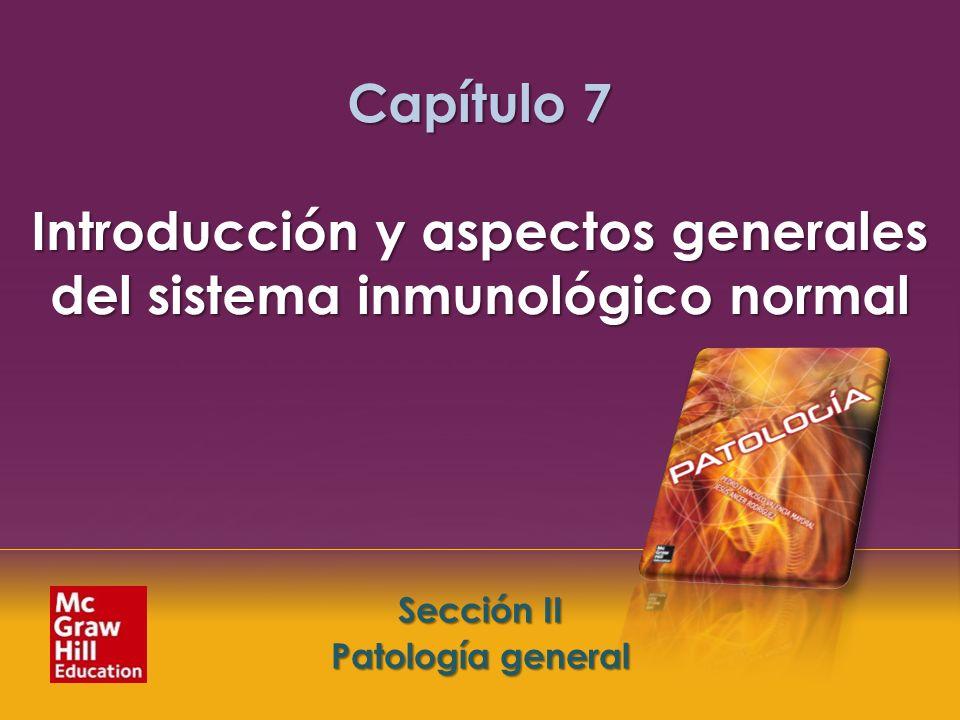 McGraw-Hill Education LLC Todos los derechos reservados. Capítulo 7. Introducción y aspectos generales del sistema inmunológico normal Sección II. Pat