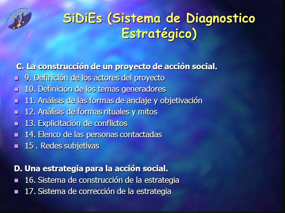 SiDiEs (Sistema de Diagnostico Estratégico) C.La construcción de un proyecto de acción social.