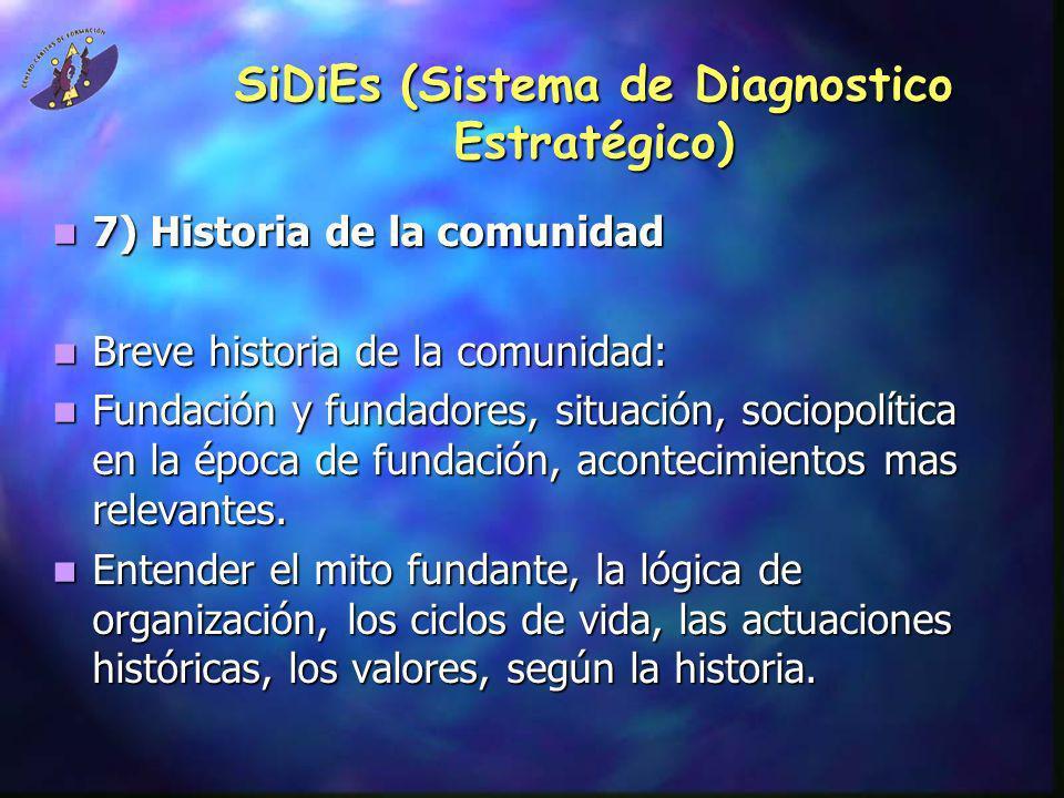 SiDiEs (Sistema de Diagnostico Estratégico) 7) Historia de la comunidad 7) Historia de la comunidad Breve historia de la comunidad: Breve historia de