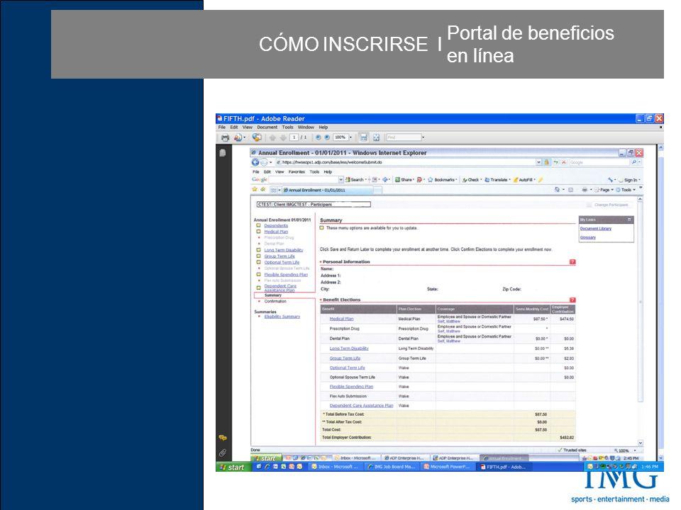 CÓMO INSCRIRSE l Portal de beneficios en línea