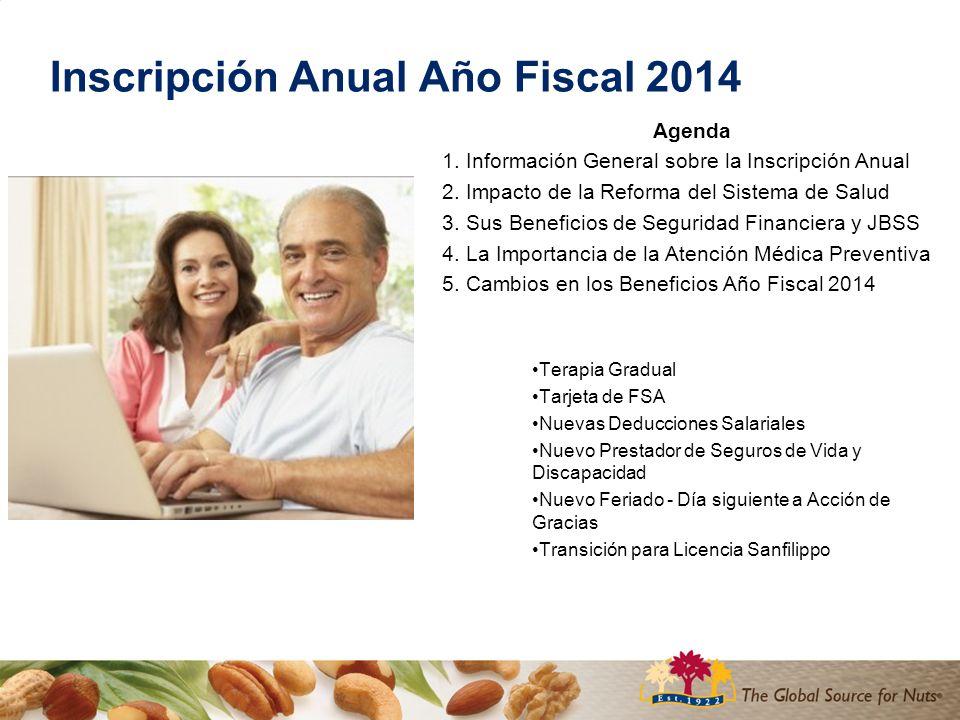 Inscripción Anual Año Fiscal 2014 Agenda 1. Información General sobre la Inscripción Anual 2.