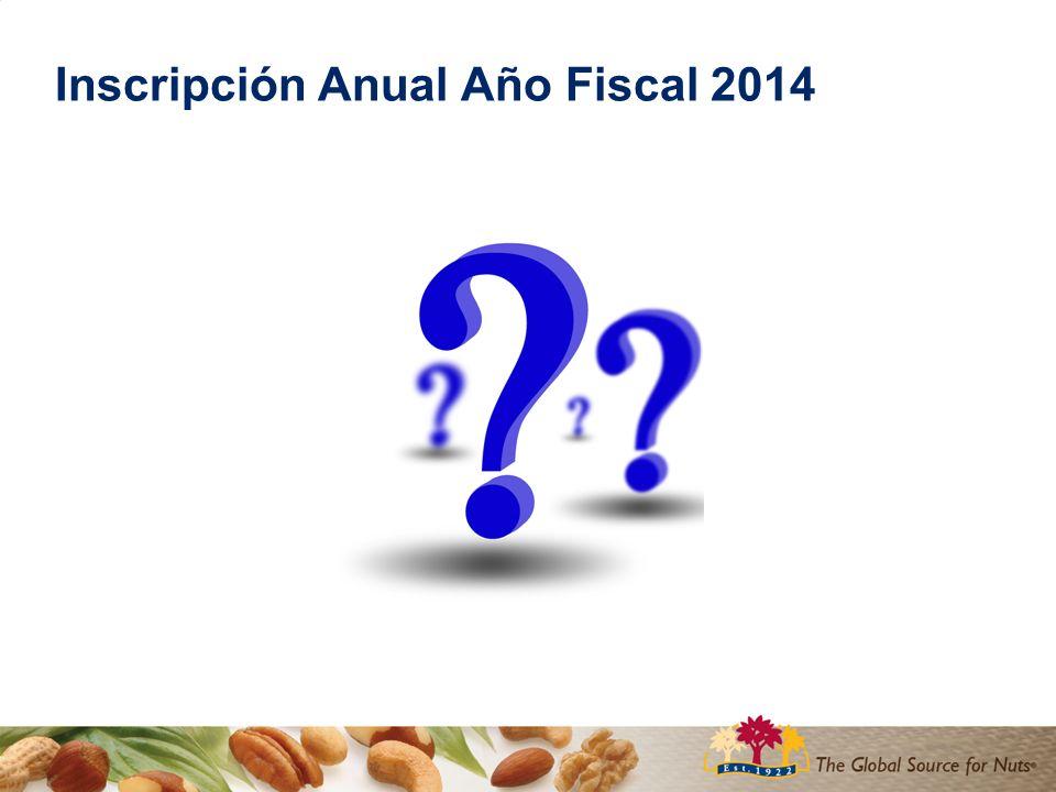 Inscripción Anual Año Fiscal 2014