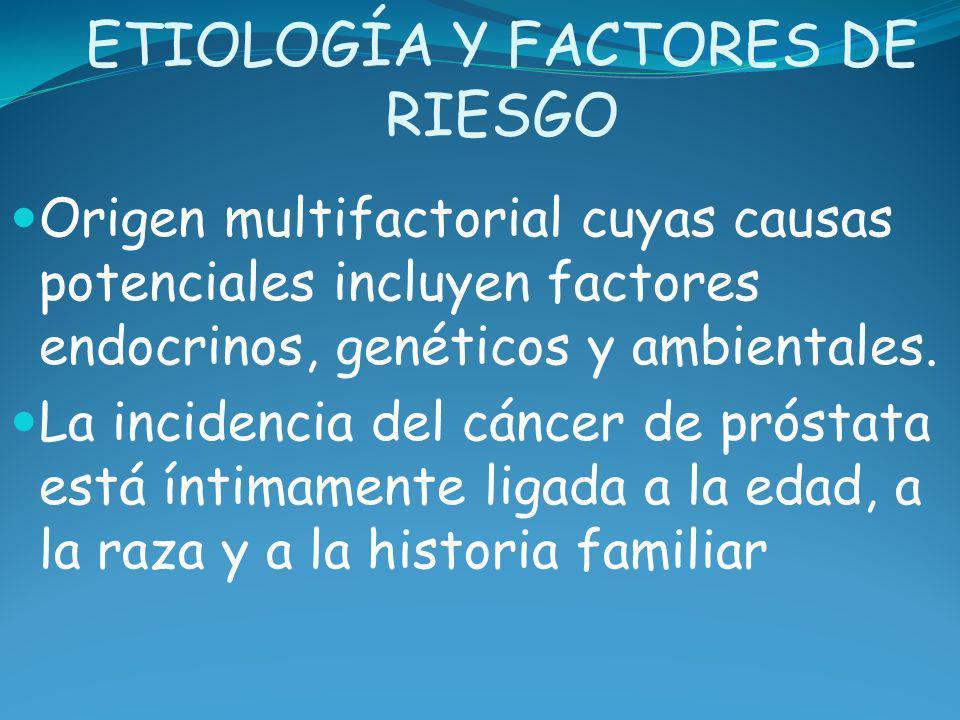 Factores de riesgo principales Los andrógenos: su presencia, al menos como factor permisivo, parece ineludible.
