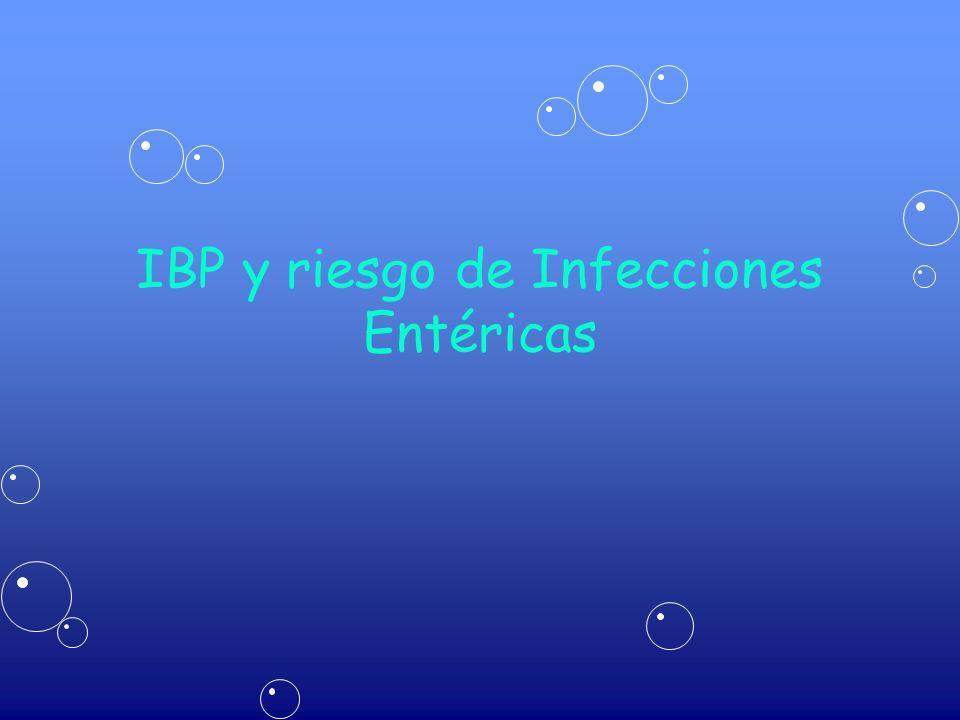 IBP y riesgo de Infecciones Entéricas