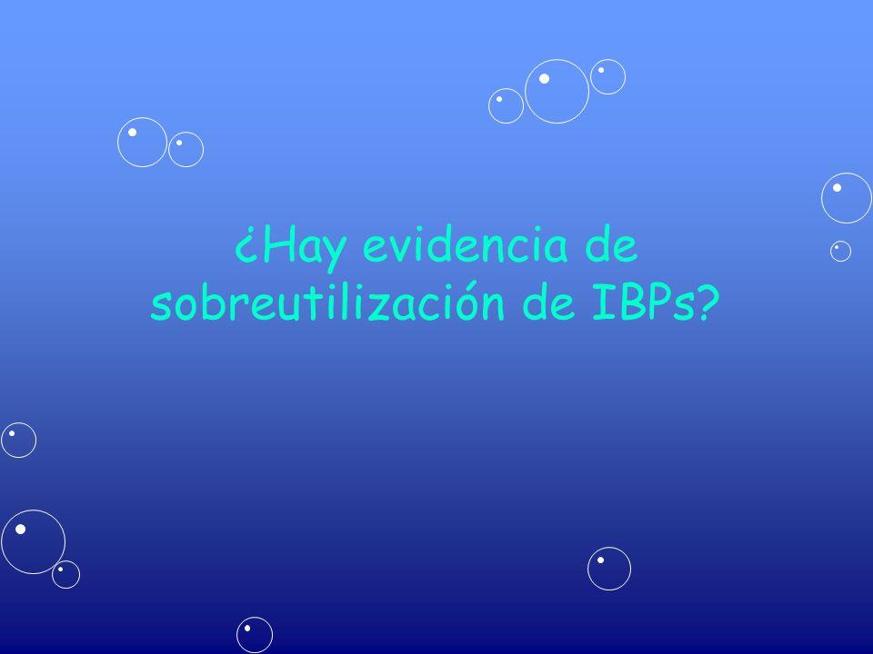 ¿Hay evidencia de sobreutilización de IBPs?