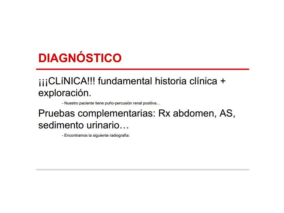 Bibliografía: Manual de urgencias MARBAN Management of renal colic.