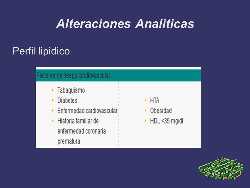 Alteraciones Analiticas Perfil lipidico