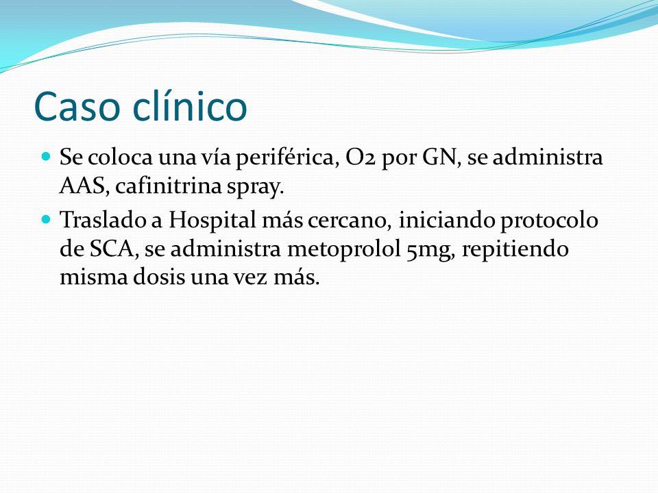 Caso clínico Ingresa en la unidad de coronariografía, se realiza cateterismo, siendo este normal.