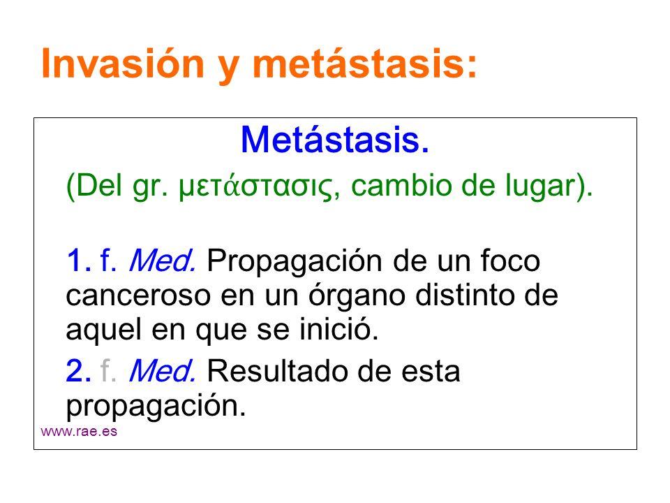 Invasión y metástasis: 1.Invasión de la membrana basal.