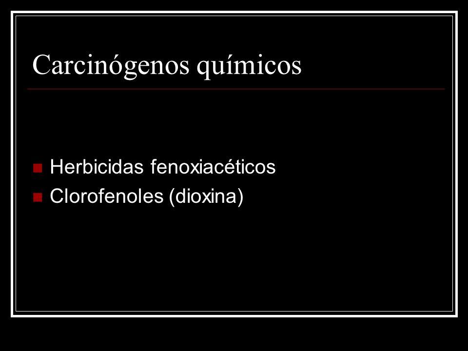 Carcinógenos químicos Herbicidas fenoxiacéticos Clorofenoles (dioxina)