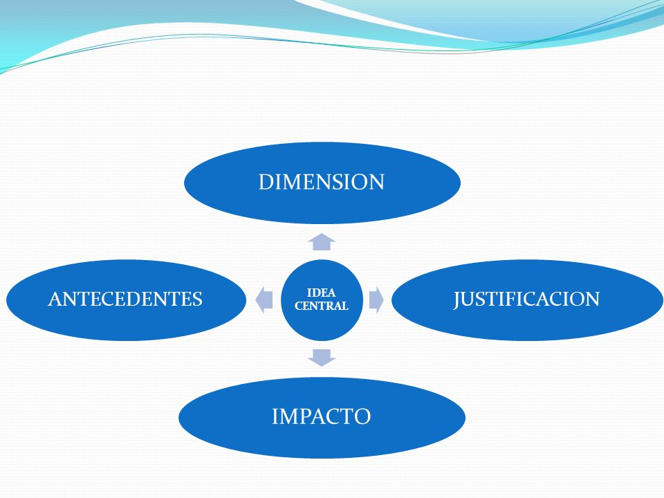 IDEA CENTRAL DIMENSION JUSTIFICACION IMPACTO ANTECEDENTES