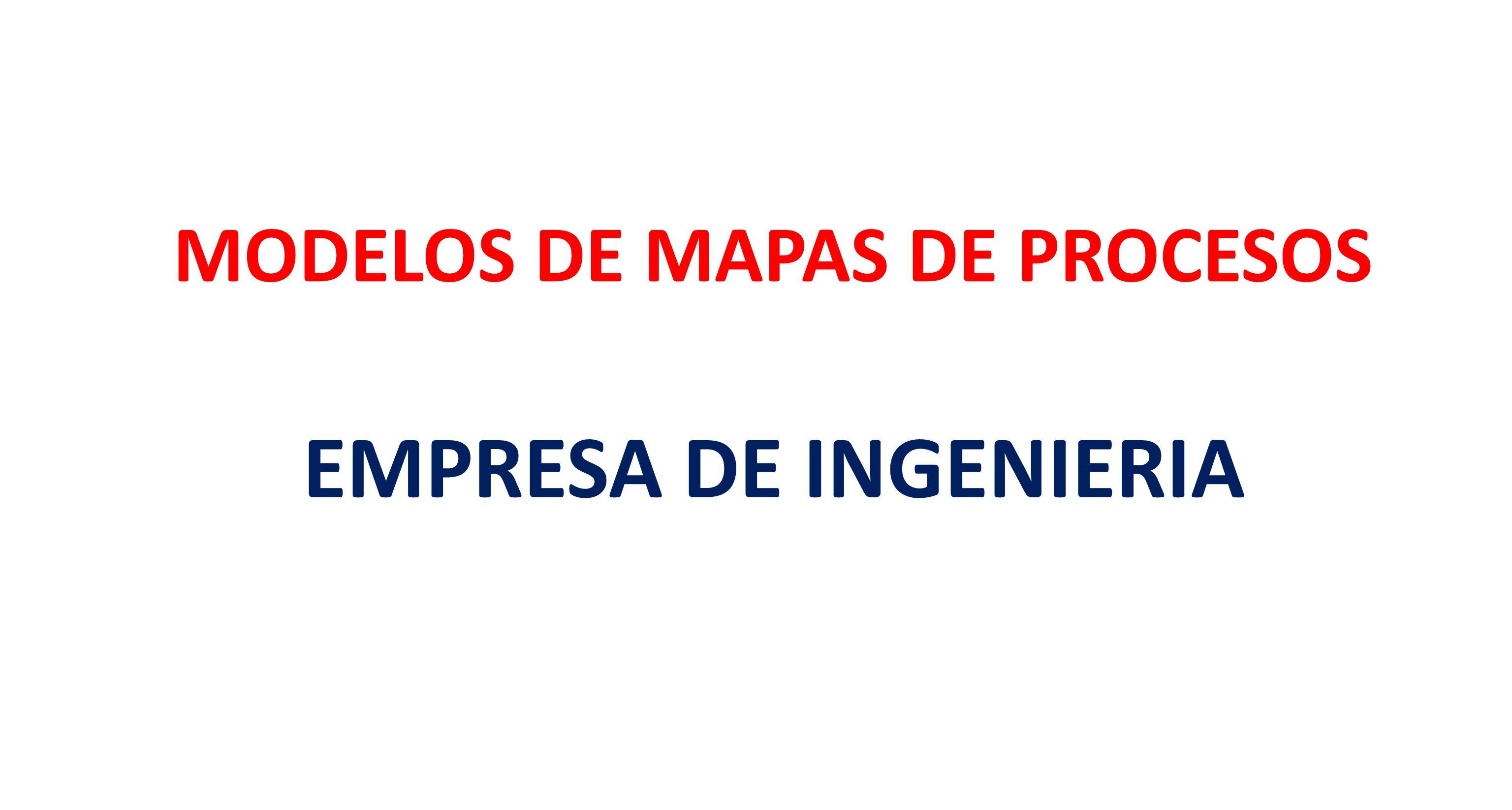 PROCESOS ESTRATÉGICOS PROCESOS DE APOYO PROCESOS MISIONALES MAPA DE PROCESOS INGENI@R S.A.