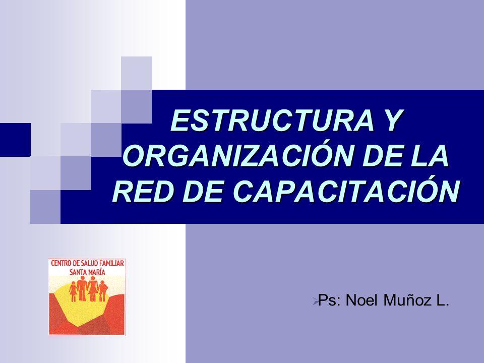 ESTRUCTURA Y ORGANIZACIÓN DE LA RED DE CAPACITACIÓN Ps: Noel Muñoz L.