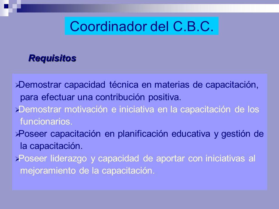 Requisitos Demostrar capacidad técnica en materias de capacitación, para efectuar una contribución positiva. Demostrar motivación e iniciativa en la c