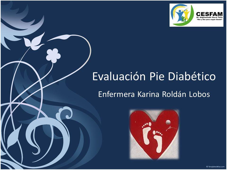 Evaluación Pie Diabético Enfermera Karina Roldán Lobos