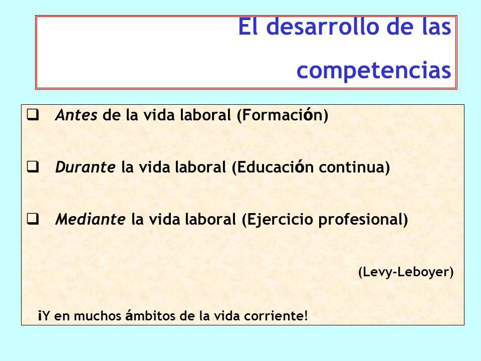 Una persona competente es una persona que sabe actuar de manera pertinente en un contexto particular, eligiendo y movilizando un equipamiento doble de