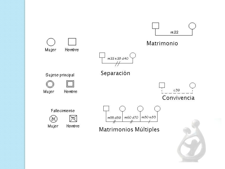 SIMBOLOGÍA DEL GENOGRAMA