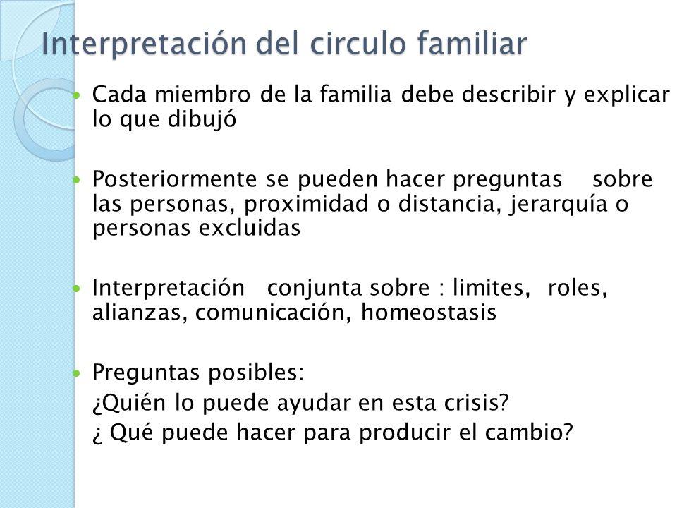 Círculo familiar Dinámica familiar Límites entre subsistemas Alianzas Estructura de poder Comunicación